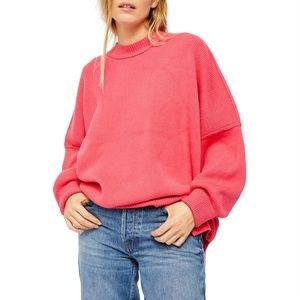 Free People Easy Street Tunic Sweater  Pink